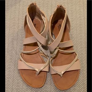 Light Blush and Rose Gold Sandals